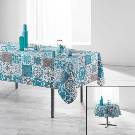 Persane Patchwork Polyester Tablecloth - Blue