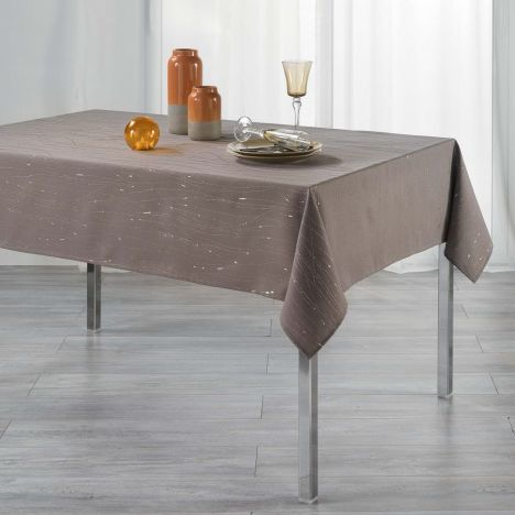Filiane Applique Polyester Tablecloth - Taupe