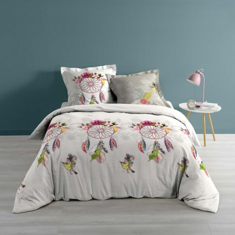 Bohemia Floral 100% Cotton Duvet Cover Set - Pink