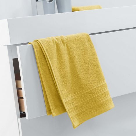 Vitamine Plain 100% Cotton Towel - Honey Yellow