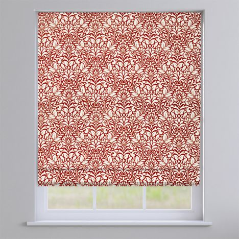 Meadow Cherry Red Roman Blind