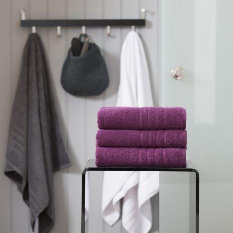 Pure Range 100% Cotton 450 GSM Towel - Damson Purple: Face Cloth