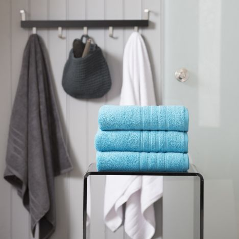 Pure Range 100% Cotton 450 GSM Towel - Teal Blue: Face Cloth