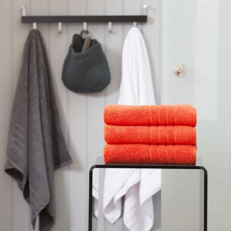 Pure Range 100% Cotton 450 GSM Towel - Pumpkin Orange: Face Cloth