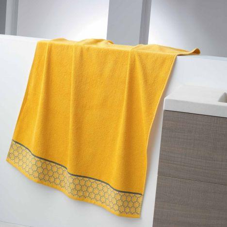 Adeline Jacquard 100% Cotton 450GSM Towel - Honey Yellow: Face Glove