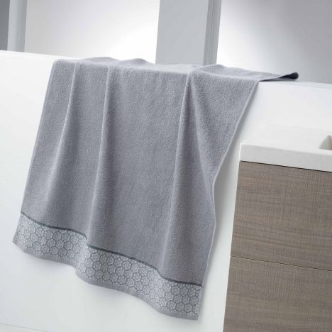 Adeline Jacquard 100% Cotton 450GSM Towel - Silver Grey