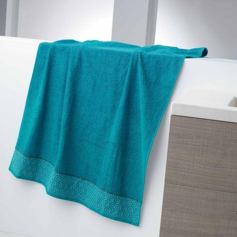 Adeline Jacquard 100% Cotton 450GSM Towel - Blue: Face Glove