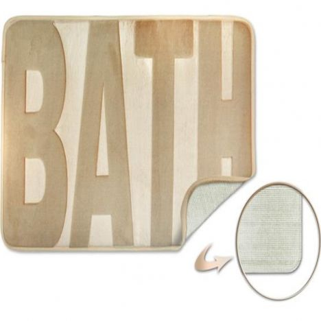 Spa Memory Foam Bath Mat - Natural