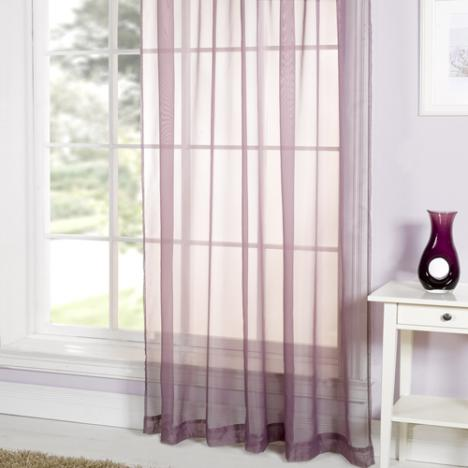 Purple Ring Top Voile Curtain Panel