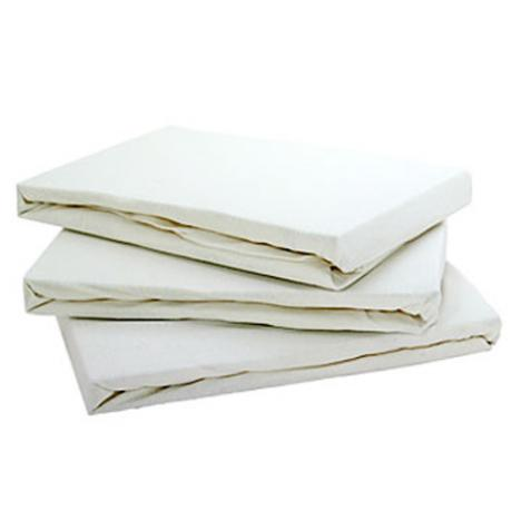 Baby Jersey 100 Cotton Pair Of Fitted Sheets Cream