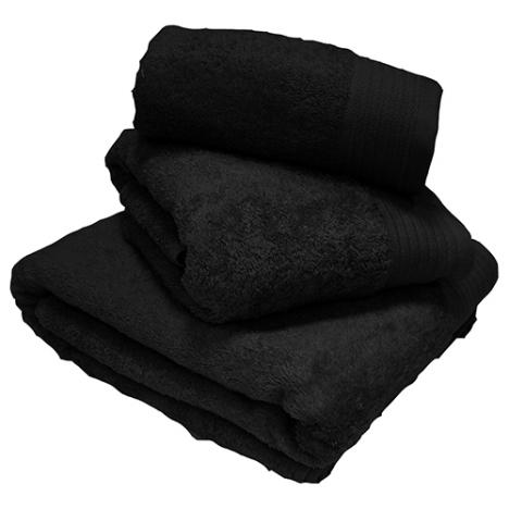 Egyptian Cotton Combed Supersoft Towel Black