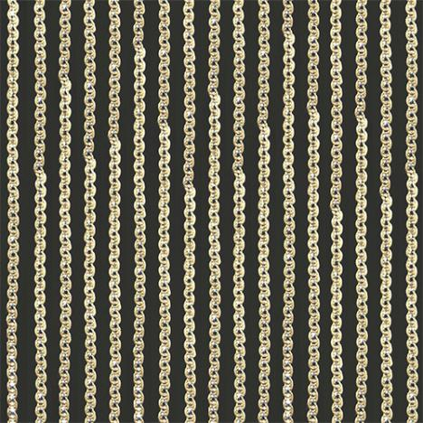 Gold Sparkle String Door/Window Curtain Panel