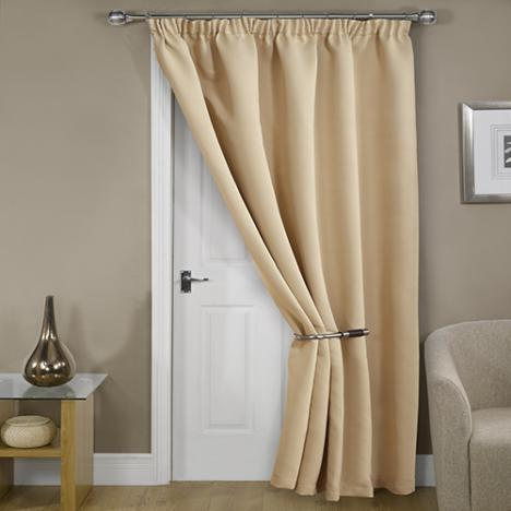 Thermal Supersoft Blackout Door Curtain Natural / Cream