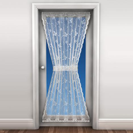 New Butterfly Door Net Curtain White Tonys Textiles