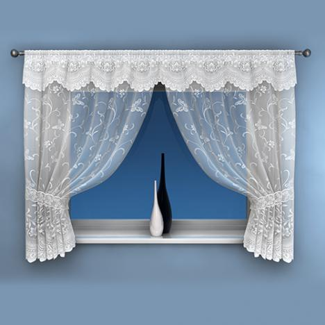 Summer White Net Curtain Window Set