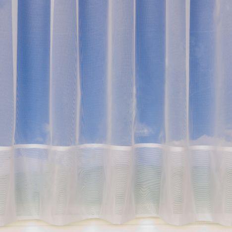 "Plain White Net Curtain 355: 18"" Drop"