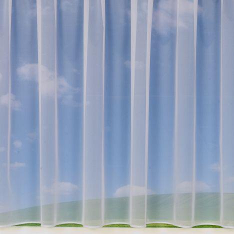 """Danielle White Net Curtain: 36"""" Drop"""