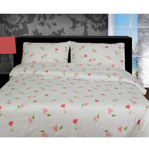 Lily Floral Pink Flannelette Duvet Cover Set Tonys Textiles