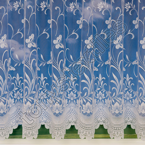 New Butterfly 3906 Net Curtain White Tonys Textiles