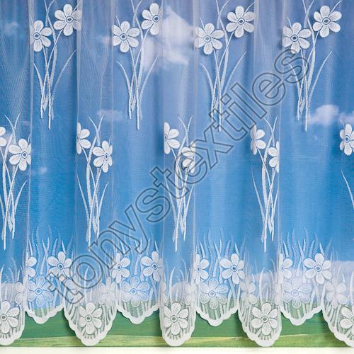 floral lace net curtain white tony 39 s textiles tonys. Black Bedroom Furniture Sets. Home Design Ideas