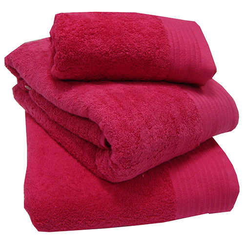 Egyptian Cotton Combed Supersoft Towel Fucshia Pink: Face Cloth