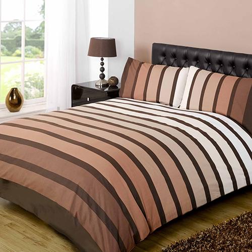 Striped Brown Duvet Cover Tony S Textiles Tonys