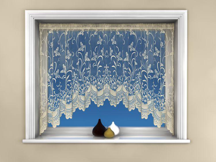 Butterfly Jardinierre Net Curtain Cream Tony S