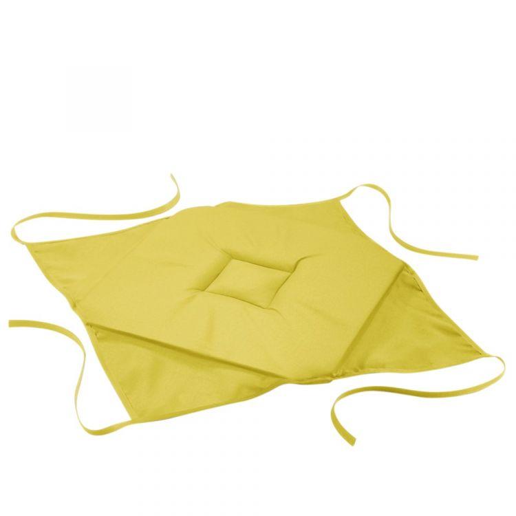 Essentiel Plain Set Of 4 Seat Pads 4 Flaps Lime