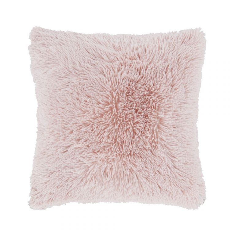 Catherine Lansfield Cuddly Cushion Cover Blush Pink