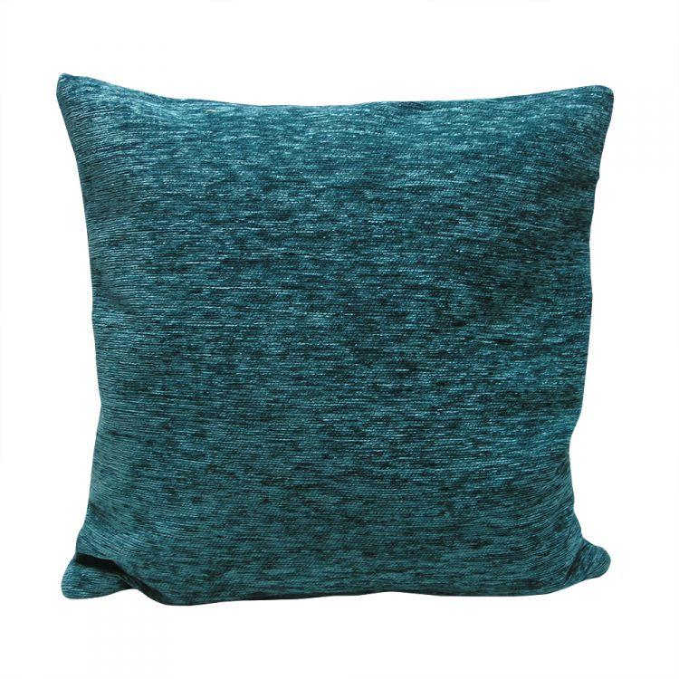 Plain Chenille Cushion Cover 22 Inch Teal Tonys Textiles