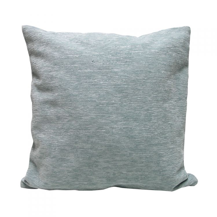 Plain Chenille Cushion Cover 18 Inch Duck Egg Blue