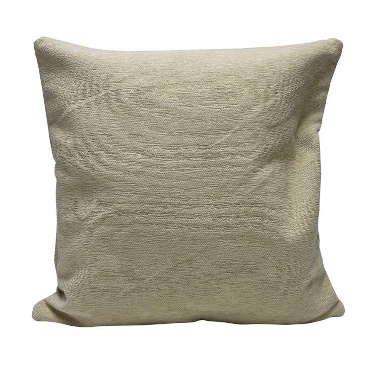 Plain Chenille Cushion Cover 22 Inch Cream Tonys Textiles