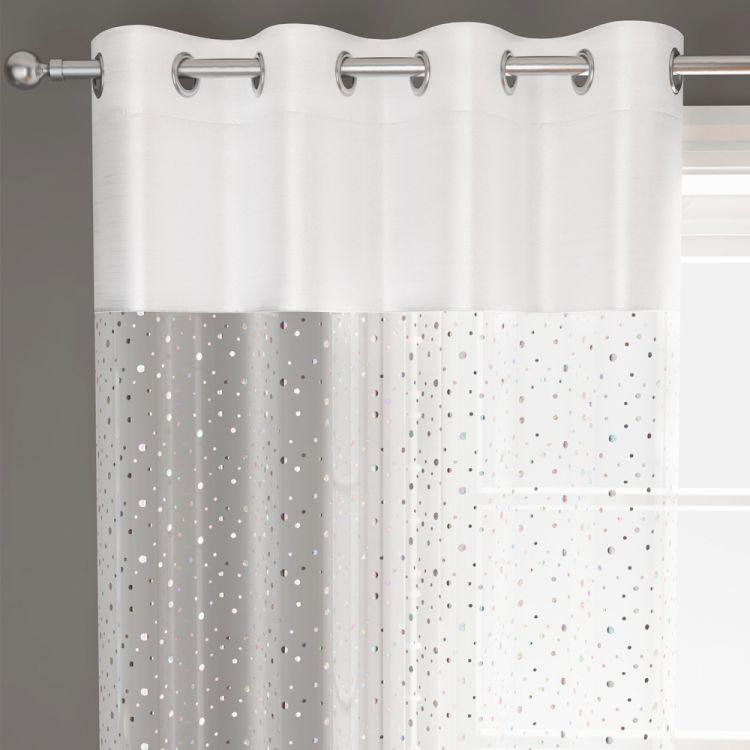 White Sparkle Glitz Voile Panel Tonys Textiles