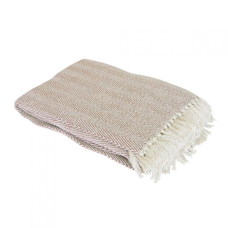 100 Cotton Como Throw Natural Tonys Textiles