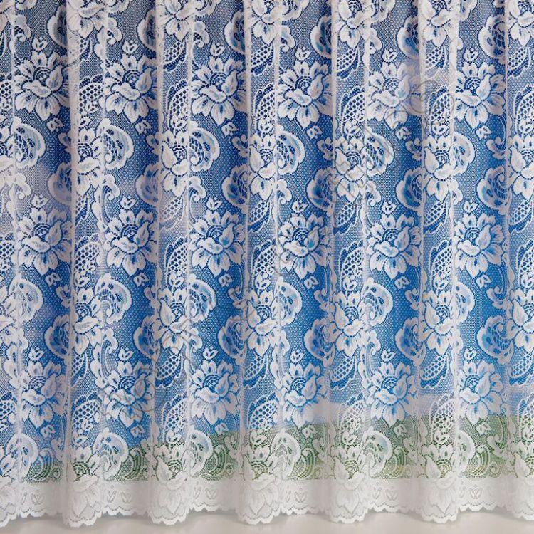 canterbury floral net curtain white tonys textiles. Black Bedroom Furniture Sets. Home Design Ideas