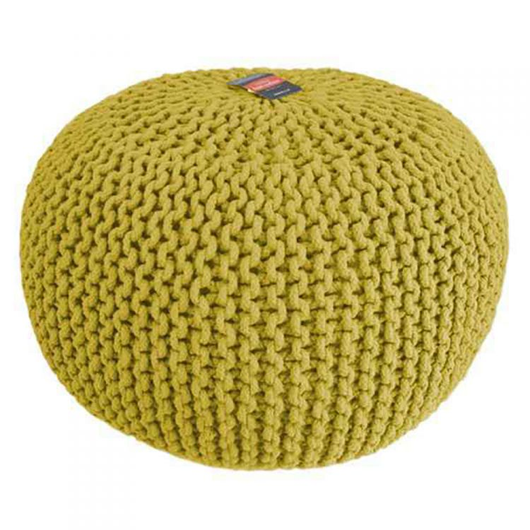 Footstool Wool Pouffe Knitted Tonys Textiles
