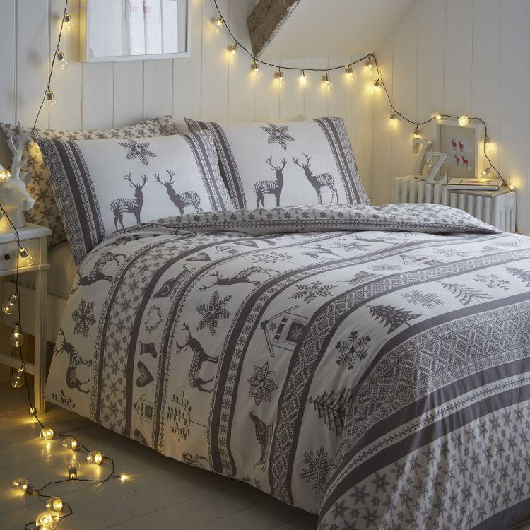 Iceland Grey Christmas Duvet Cover Tonys Textiles