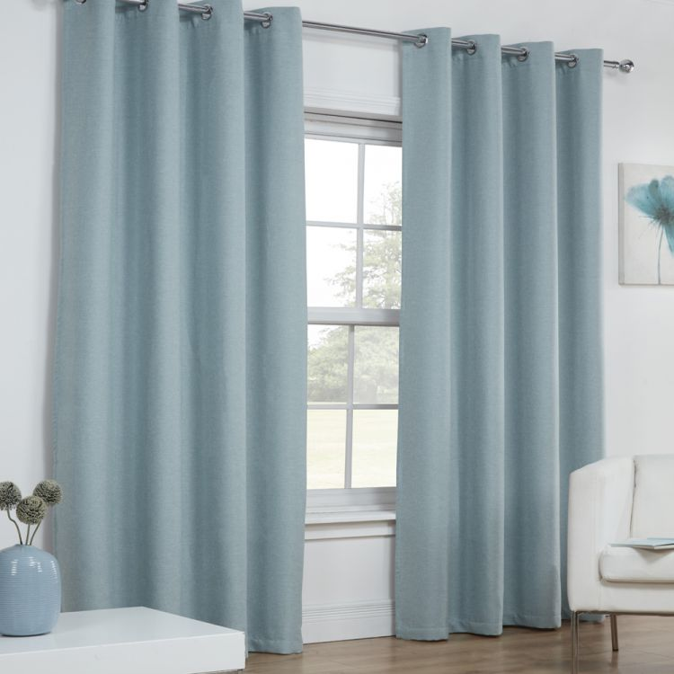 Linen Look Textured Blockout Thermal Ring Top Curtains Tonys Textiles