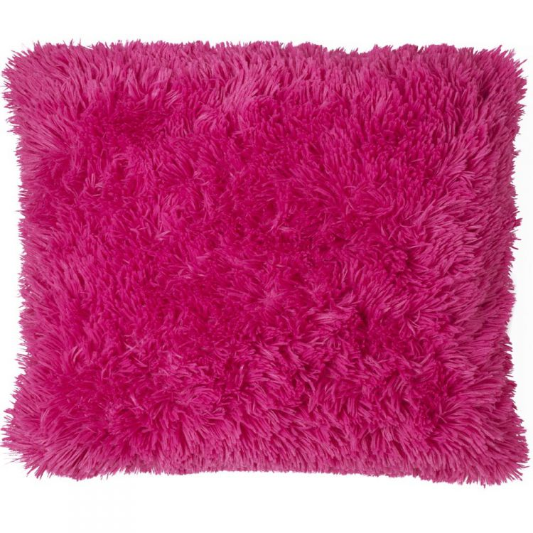 Cuddly Fluffy Hot Pink Cushion Cover Tonys Textiles