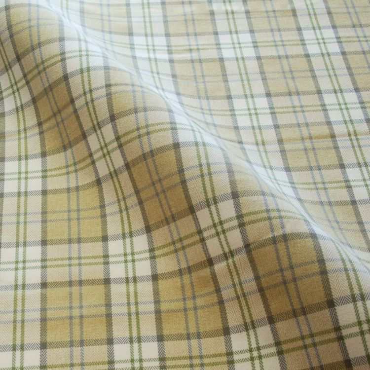 Mustard Lewis Tartan Made To Measure Roman Blind Tonys