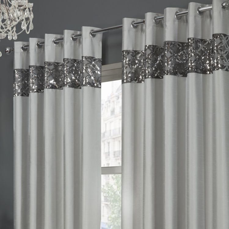 Eyelet Silver Lined Curtains Tony S Textiles Tonys