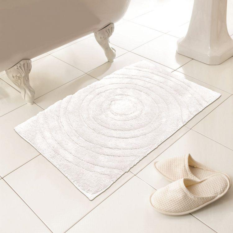 Bath Mat Sets White : Cotton bath mat rug white tonys textiles