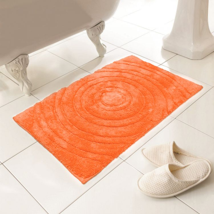 100 Cotton Bath Mat Orange Rug Tonys Textiles