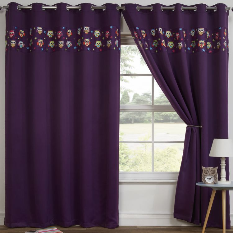 Owl Eyelet Thermal Blackout Curtains
