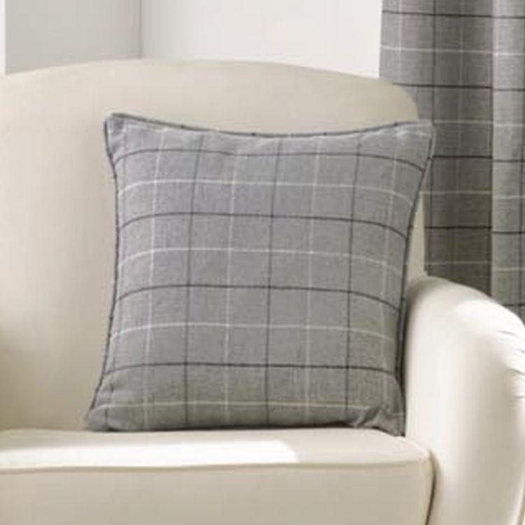Cream Check Cushion Cover Tonys Textiles