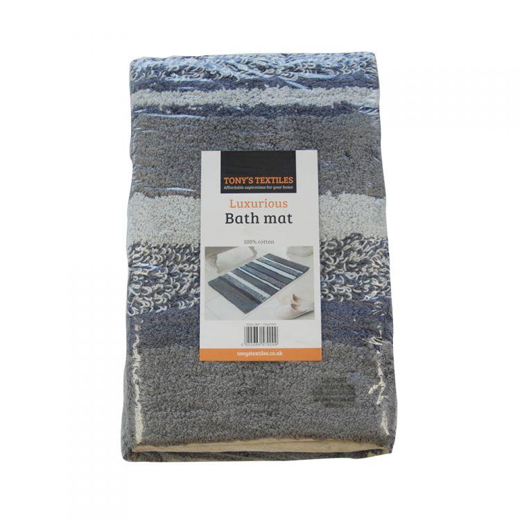 100 Cotton Bath Mat Rug Silver Grey Tonys Textiles