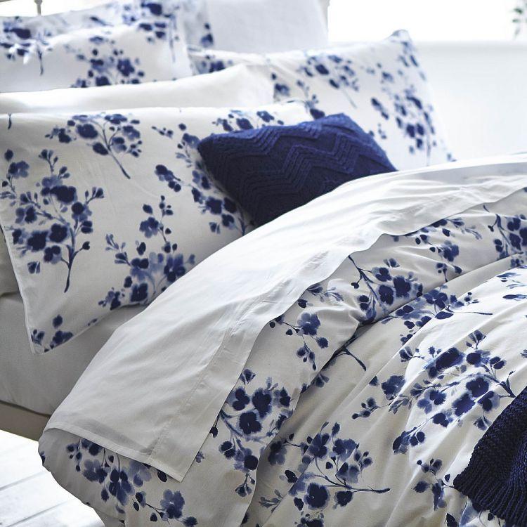 Bianca Cotton Soft Duvet Cover 100 Cotton Blue