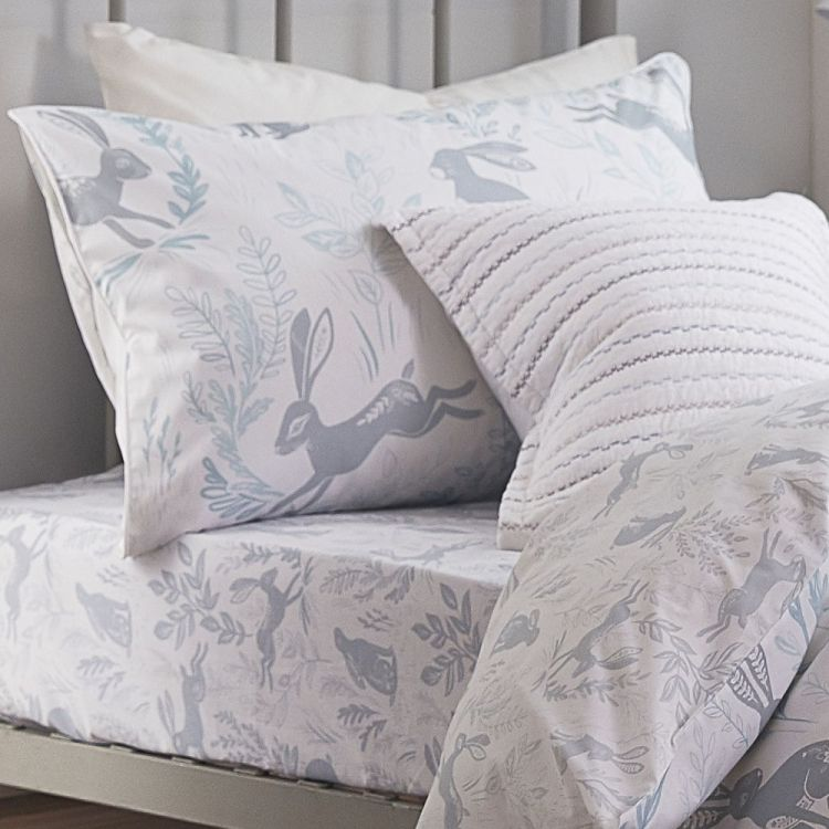 Bianca Cotton Soft Fitted Sheet 100 Cotton Duck Egg