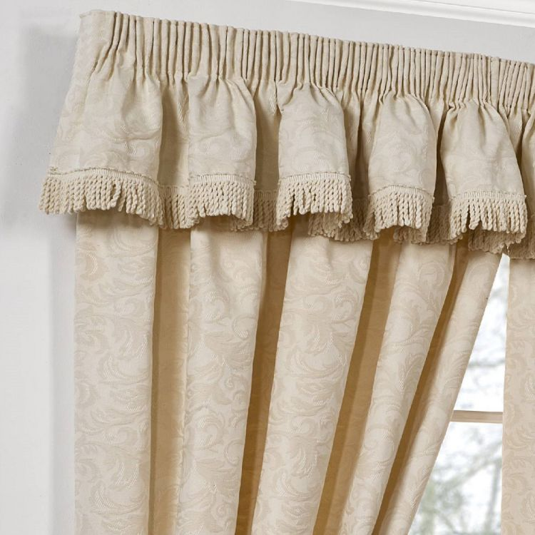 Jacquard Curtains 100 Cotton Tape Top Natural