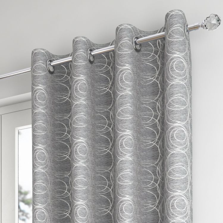 saturn ring top lined curtains silver grey tonys. Black Bedroom Furniture Sets. Home Design Ideas